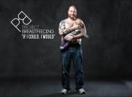 Des hommes qui allaitent pour une campagne de sensibilisation