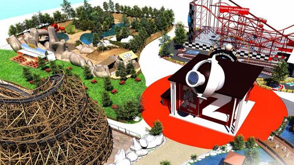 Maquette parc Spirou