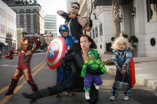 déguisement famille Avengers