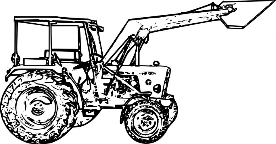 Coloriages Tracteur à Imprimer En Tribu